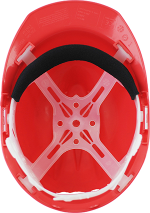 helmet with 4 point PE suspension